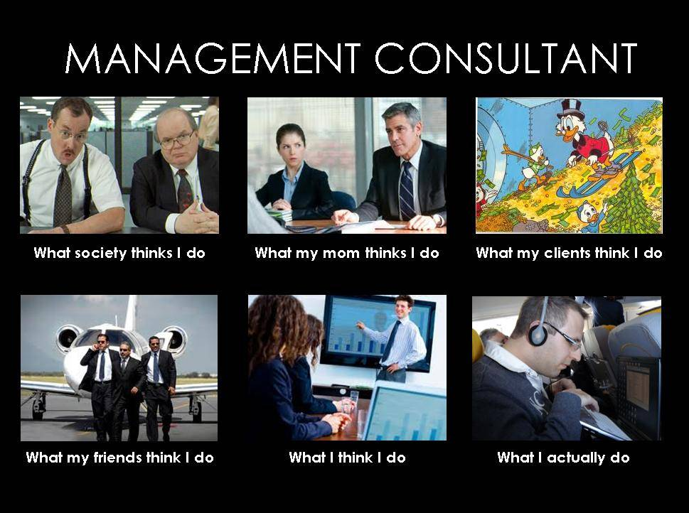 Management Consultant What People Think I Do