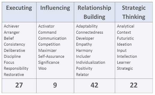Strengths Leadership Themes Examples
