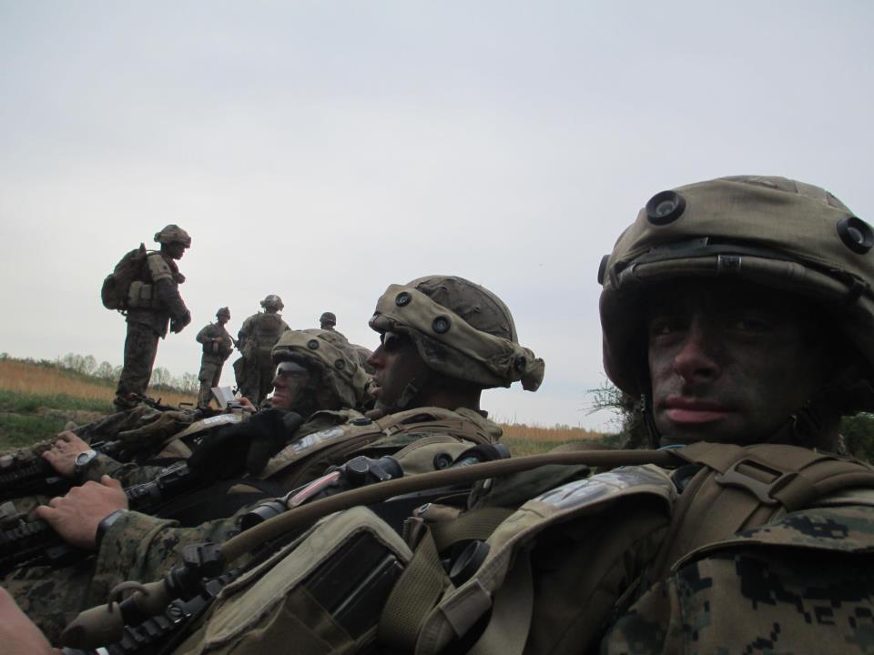 Marines Sitting